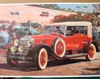 1928 Rolls Royce Phantom I Phaeton Silver Radiator Dual Cowl