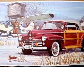 1947 Ford Sportsman Real Woody Woodie Motor Car Only 2000 Sold