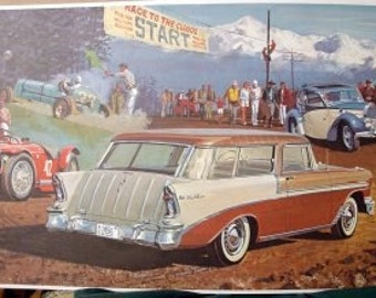 1956 Chevy Bel Air Nomad Wagon Only 23K Made Classic Car