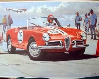 1958 Alfa Romeo Curving Aluminum Body 5 Speed Classic