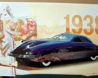 1938 Stunning Phantom Corsair Rust Heinz Cord Chassis