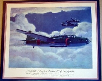 WWII Mitsubishi Navy 01 Betty Bomber Japanese Army War Fighter Plane
