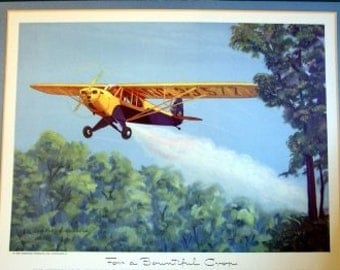 1940s Small Aircraft Piper Cub PA 11 2 Place Cropduster