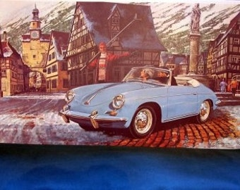 1961 Porsche 356B Roadster Classic Car Auto Print