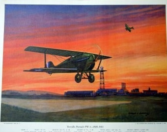 1920s US Fighter Machine Gun Gunner Plane Verville Pursuit PW1