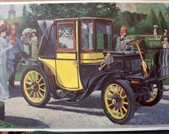 1906 Very Rare Krieger Brasier Electric Landaulet Car