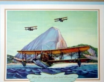 1926 PanAm Good Will Flight Dargue Loening Amphibians Water Plane