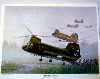 1966 Army Boeing Vertol Whirlybird CH47A Helicopter