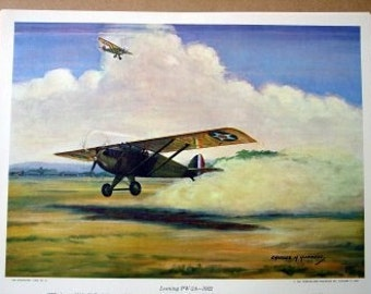 1922 US Fighter Plane Loening PW 2A Machine Guns 320 mph