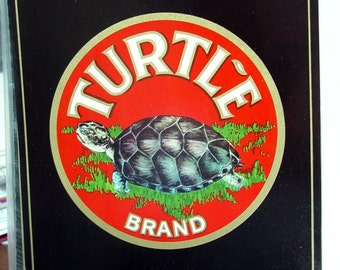 1940s Very Scarce Turtle Turtles Robstown Texas TX Crate Label