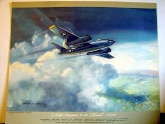 1950 North American B45 B-45 Tornado Bomber Fighter Jet USAF
