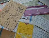 10 pcs. assorted ephemera pack. Vintage paper set