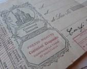 3 Bank papers - Vintage Italian and Spanish ephemera - Assorted original paper set