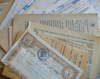 30 special sheets of vintage spanish ephemera. Big antique paper pack