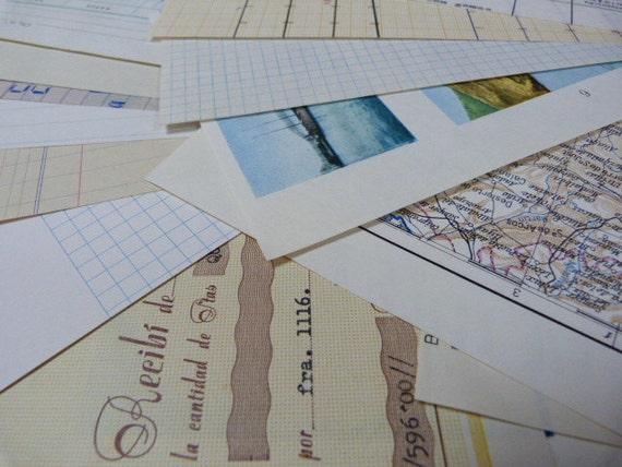 10 Mixed paper SCRAP Pack
