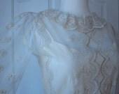 1970's Garden party lace tea length dress