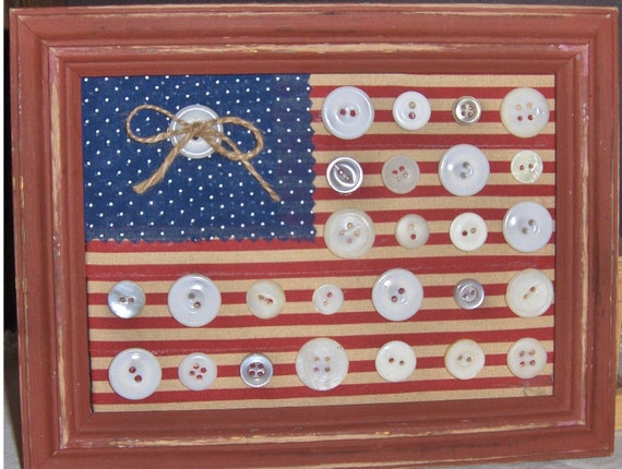 Old Glory with Vintage buttons
