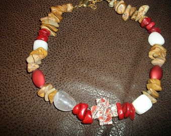 Red Cowgirl Bling Necklace