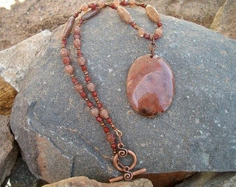 Red Fossil Coral Necklace