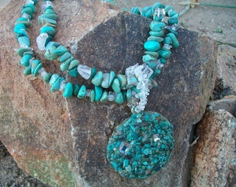 Sparkling Turquoise Cowgirl Necklace