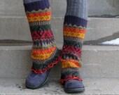 Eco Friendly Knee High Alpaca Sweater Leg Warmers