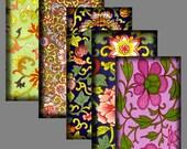 1 X 2 Inch,  Digital Art, Digital Collage Sheet, Asian Art,  Chinese Ornament -  Dominoes Glass Tiles Crafts Scrapbooking Pendants   CS 22