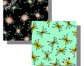 SALE - Digital Collage Sheet - Digital Art - Printable - Clip Art - Squares - Mid Century Modern - Paper Crafts - Origami Paper - MM3