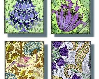 Printable Digital Sheet, Digital Art,  1 Inch Squares,  Art Nouveau,  Vintage/Antique Designs for Glass Tiles Pendants Scrapbooking CS 212
