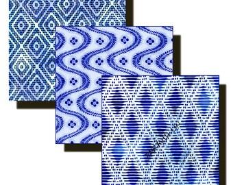 3 Inch Squares,  Digital Art, Original Designs, Digital Origami, 12 Designs,  Download and Print, Vintage Japanese Designs Paper Pack 9