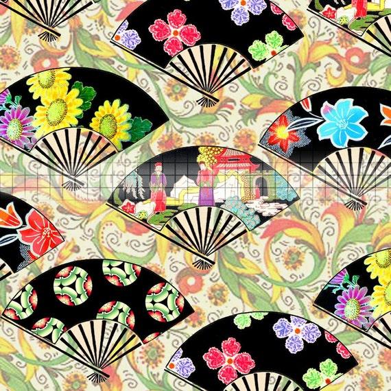 SALE - Print Your Own Origami Sheets Elegant Digital Download Original Art Asian Motifs CS 21