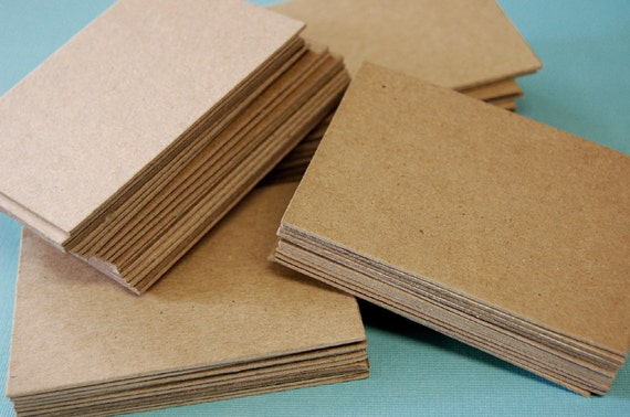 "Chipboard Cards, ACEO, ATC, Blank Cards, 2.5"" X 3.5"" Size,  Medium-Heavy, .33 - .45 Thick, 100 Cards, DESTASH"