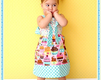 Girls Knot Dress Cupcake Delights Toddler Infant Girls