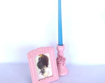 Repurposed Pink Candlestick