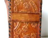 Vintage Souvenir Leather Cigarette Case Embossed w/Mexico, Horse