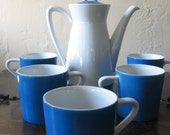 Bone China ServiceSnow White Cerulean Blue Cocoa Espresso Coffee Barista Holiday SALE