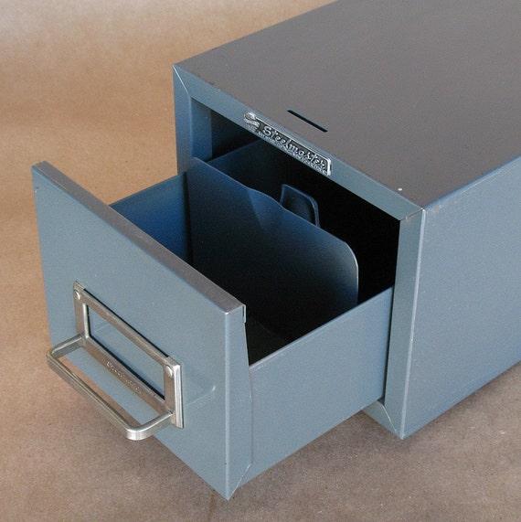 Vintage Industrial Steelmaster single drawer file box