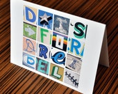 "Hannukah Cards, Holiday Cards - ""D is for Dreidel"" (Set of 6)"
