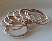 Stacking Rings-Set of 8 Rings-14k Gold Filled Stackable Rings