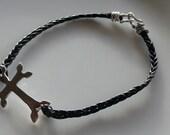 Sideways Cross Bracelet-Silver Sideways Cross