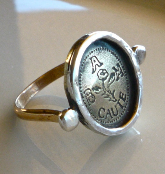 Design Your Own Ring: Items Similar To Men's Signet Ring With Your Own Design