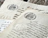 c.1800's Handwritten French Document