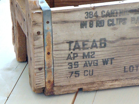 wood ammo crate
