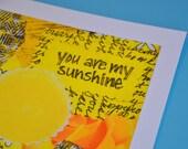 You Are My Sunshine - 5x5 Giclee Print