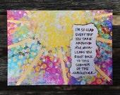 Handmade Birthday Card: Inspirational Art