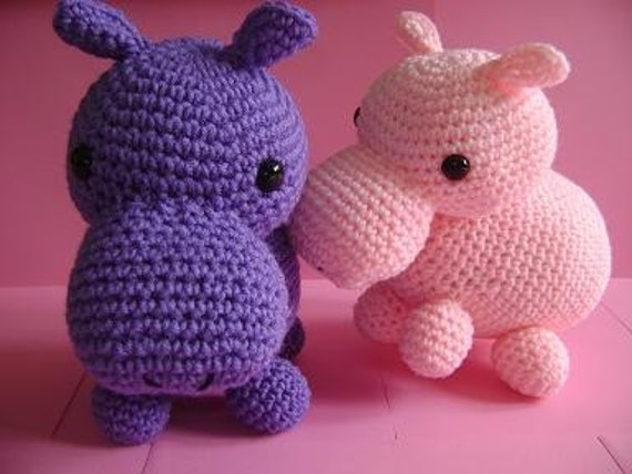 Amigurumi Hippo by Cyndrya on Etsy