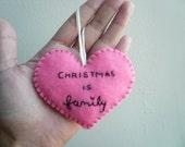 Christmas Heart Ornament - family