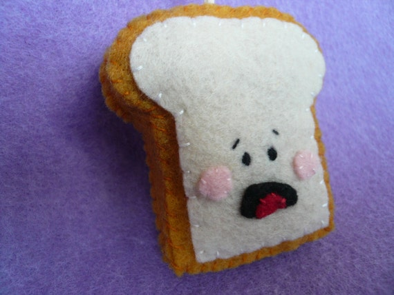 Frightened Piece of Toast - Funny Christmas Ornament