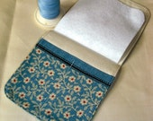 Blue Needlecase. A pretty needlecase in a pretty blue floral design.