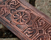 Vintage copper panel 19 x 6 cm or 7,5 x 2,5 inch