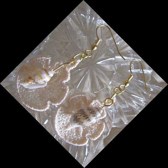 Sand Dollar Earrings - Tiny Earrings - Seaside Earrings